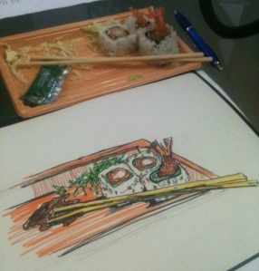 Sushi SketchBreak1
