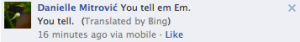 Bing. Good at English