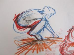 Dancers Crouchin